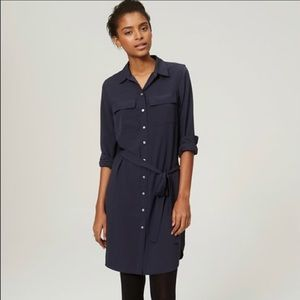 Loft navy shirtdress